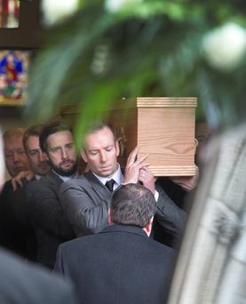 The funeral of Dr John O'Grady at St Mary's, Star of The Sea Church, Sandymount