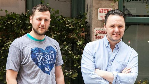 Former Belfast barmen, Sean Muldoon and Jack McGarry at The Dead Rabbit in New York