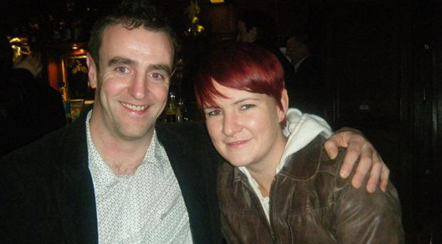 Mark Durkan with his late sister Gabrielle