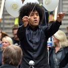 Chief conductor Rafael Payare at Victoria Square