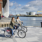Girls using Belfast Bikes