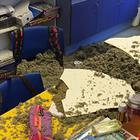 The damage caused when a ceiling came crashing down during a lesson at Killyleagh Primary School in Co Down