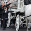 Mourners follow the funeral cortege of Violet Crumlish, dubbed the Queen of the Travellers, in Lurgan