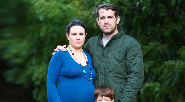 Brendan Nugent, his wife Solene and son Louis