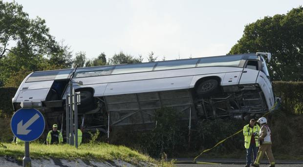 The scene of the accident on the A76