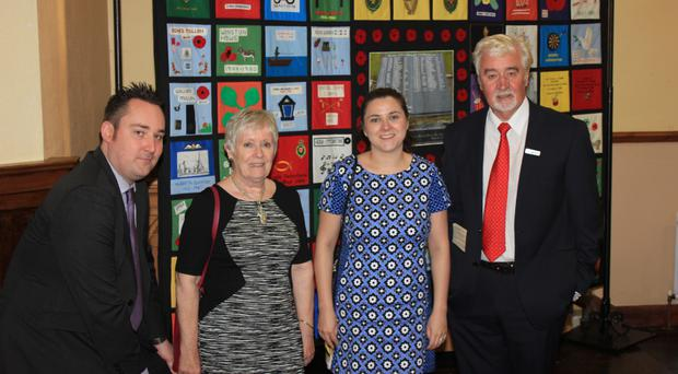 From left, South East Fermanagh Foundation's director of Services Kenny Donaldson, Victims & Survivors Service Board member Bertha McDougall, VSS CEO Margaret Bateson and SEFF's chairman Eric Brown