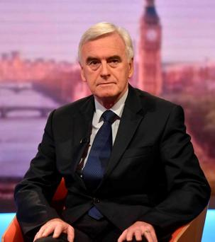 Shadow chancellor: John McDonnell