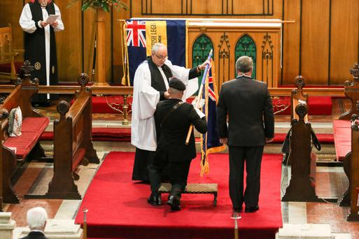The Newry Branch of the Royal British Legion yesterday dedicated a new standard in St Mary's Church