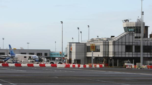 Arrivals and departures were held up at Belfast International Airport