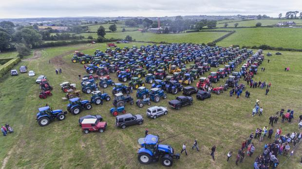 Hundreds of tractors at the event in Moneyrea