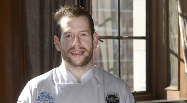 James Devine, sous chef at Deanes Eipic in Belfast, winner of Craft Guild of Chefs' 2017 National Chef of the Year