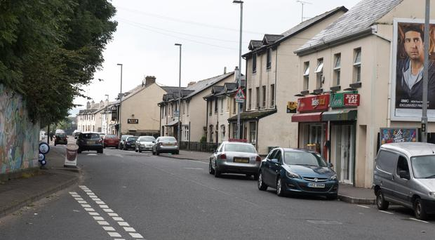 Lecky Road in Derry where Dundalk fans were targeted by 'out-of-control' youths
