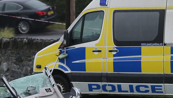 The crash happened on Thursday on the Newtownards to Bangor road