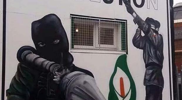 Fury: the republican mural in Derry