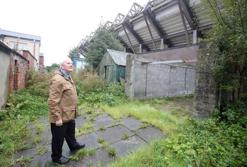William Dickson at the rear of properties on Olympia Drive backing on to Windsor Park
