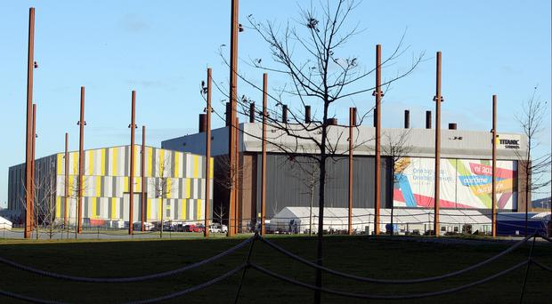 Large parts of the fantasy drama Game Of Thrones are currently being filmed at Titanic Studios in Belfast