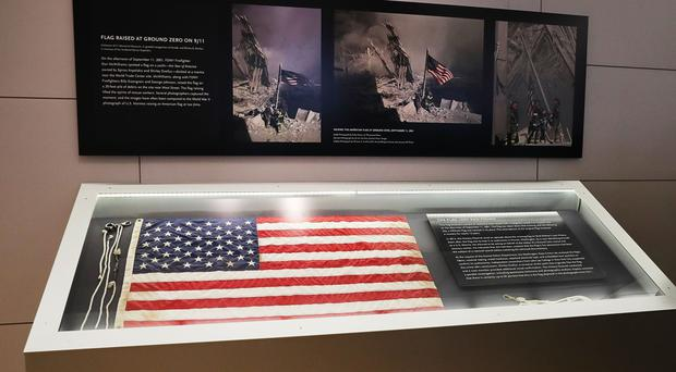 The flag now on display in the 9/11 Memorial Museum