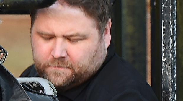 Solicitor Damien McDaid at court