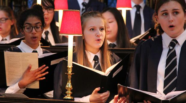 The choir from Methodist College, Belfast, who will sing in Carnegie Hall, New York