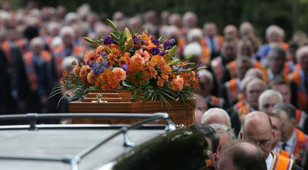 Up to 800 Orangemen from lodges across Northern Ireland, England and Scotland took part in the procession