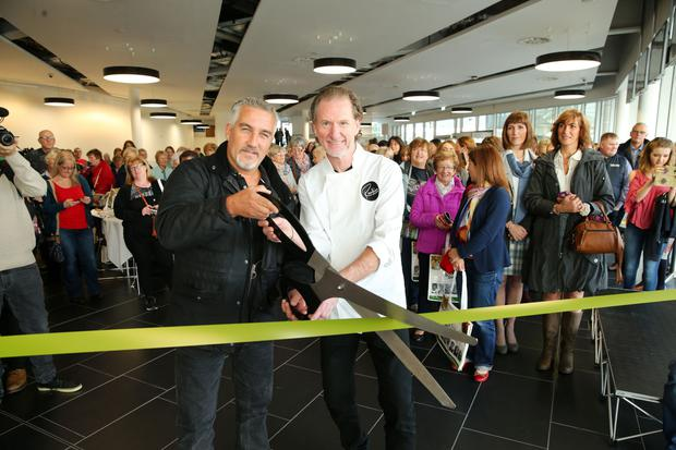 Chefs Paul Hollywood and Paul Rankin officially open the BBC Good Food Show at Belfast's Waterfront Hall