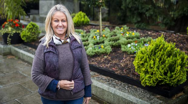 Dawn Mitchell-McEntee who helped prepare Hillsborough for the RHS Britain In Bloom competition