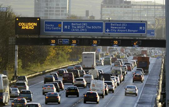 Traffic disruption for motorists on the M2 city-bound route into Belfast