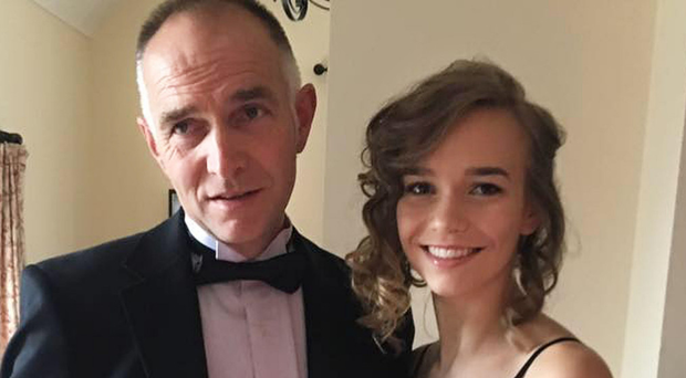 Farmer Alastair Sloss and his daughter Rebekah