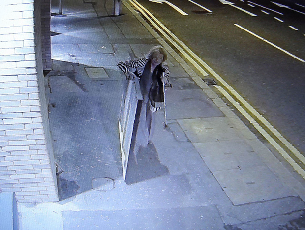 CCTV footage of the theft of the Steve McQueen portrait