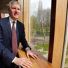 Mairtin O Muilleoir called on chancellor Philip Hammond to 'take his foot off the austerity pedal'