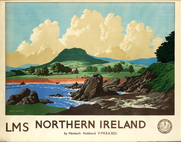 The area of Northern Ireland depicted in the rare 72-year-old railway poster is not knownvaluable