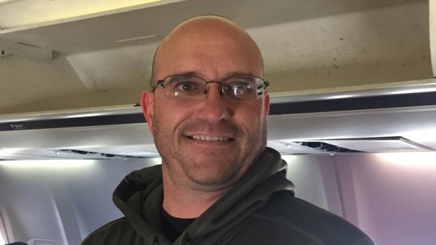 Paul Eurich, a passenger on board a United Airlines flight which was forced to make an emergency landing in Shannon Airport