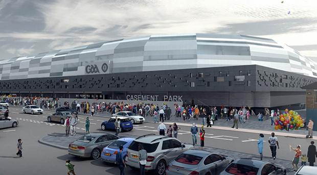 Artist's impression of the proposed new Casement Park stadium