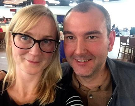 Reporter Lesley-Anne McKeown with her husband Brendan