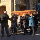 The funeral of Seamus Deery at St Columba's Church, Long Tower