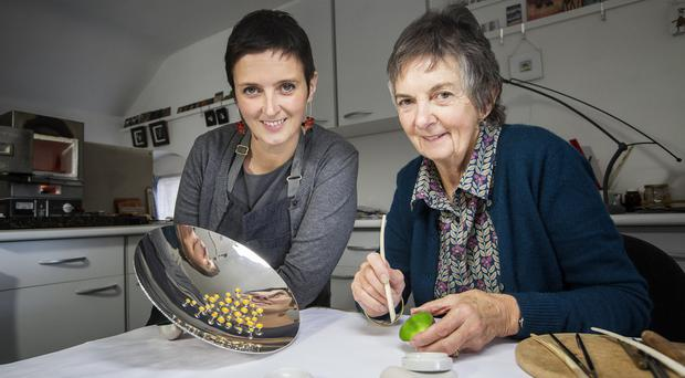 Silversmith Cara Murphy and her mother, enamellist Deirdre McCrory