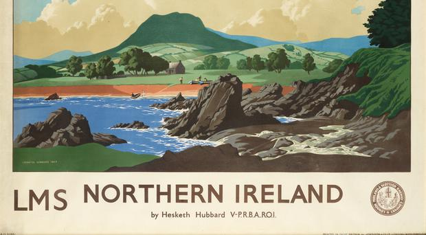 The 1944 London Midland and Scottish Railway poster featuring Lurig mountain