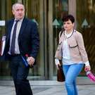 Anthony and Rhonda Houston, parents of Edel at the inquest yesterday