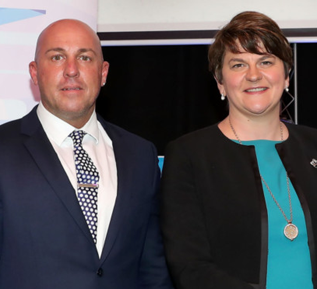 Dee Stitt with Arlene Foster at the Charter NI funding announcement
