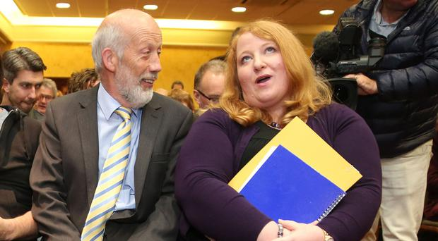 Naomi Long with former leader David Ford