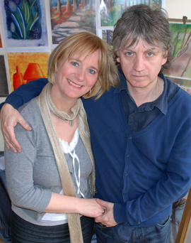 Bap Kennedy with his wife Brenda