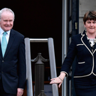 First Minister Arlene Foster and Deputy First Minister Martin McGuinness at Stormont yesterday