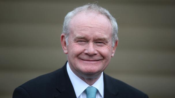 Mr McGuinness has hailed investment from the US