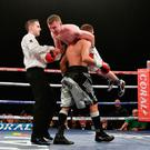 Paddy during his fight on Saturday night