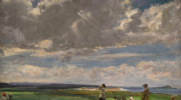 The Golf Links painting by Belfast artist Sir John Lavery, which will be sold at Sotheby's in London later this month