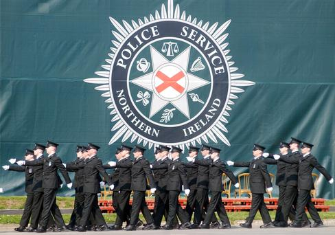 New PSNI recruits on parade in Belfast