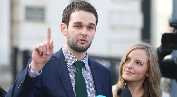 Daniel and Amy McArthur of Ashers which lost an appeal against the ruling that they had discriminated against gay man Gareth Lee.