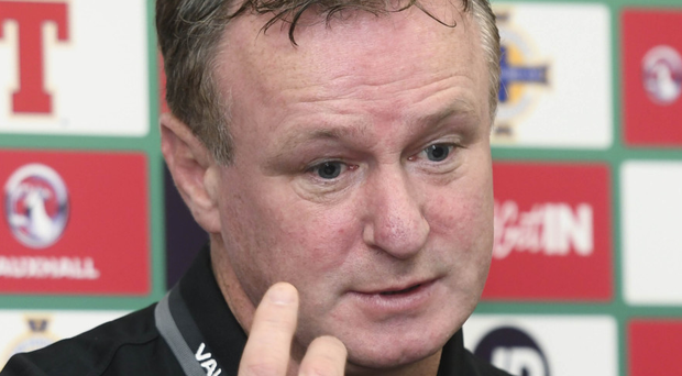 Northern Ireland Manager Michael O'Neill yesterday.