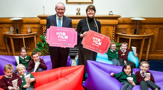 First Minister Arlene Foster and Deputy First Minister Martin McGuinness launch the festival