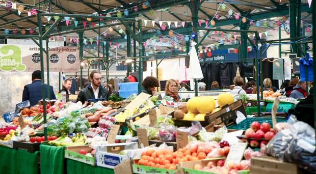 Shoppers at St George's Market, Belfast (File photo)